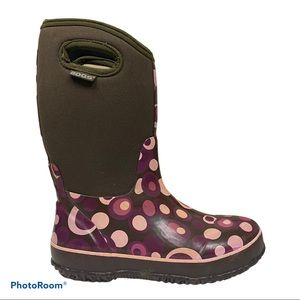 Bogs classic hi bubbles pull on rain snow boots